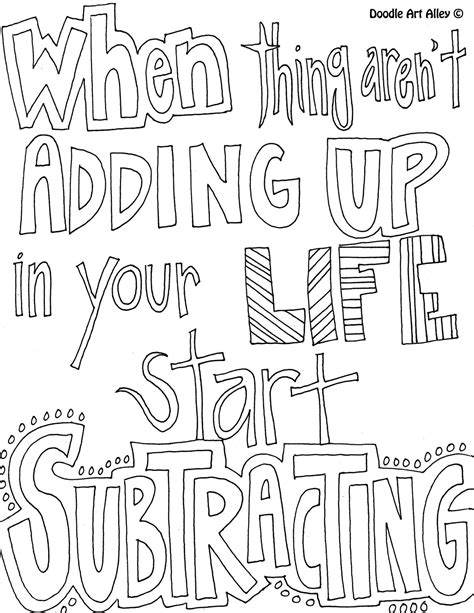 coloring page   arent adding    life