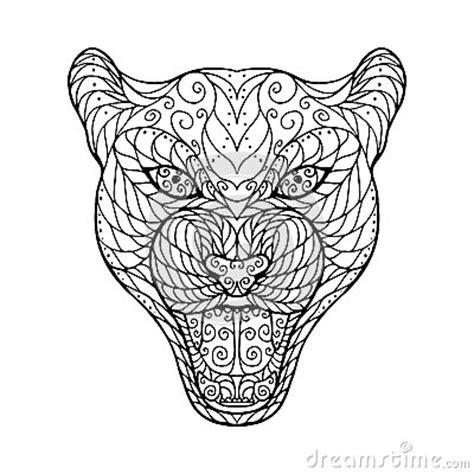 zen tangle head  jaguar stock vector image