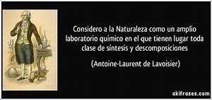 Considero a la Naturaleza como un amplio laboratorio químico en