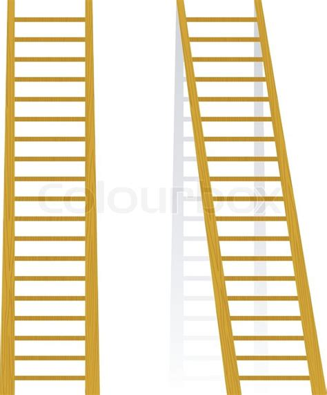 vector illustration   wooden staircase stock vector