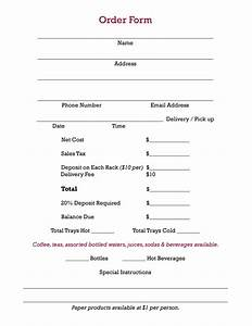7 best photos of lunch order form in excel lunch order With pizza order form template