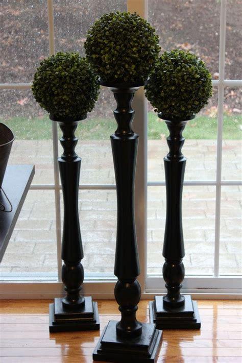 tall black candlestick gloss candle stick wooden