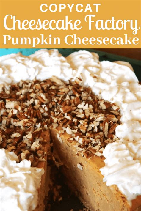 And while this dessert may taste delicious, she also noted that it packs on more calories, fat, and sugar in the process. Cheesecake Factory Pumpkin Cheesecake | Copycat Recipe!
