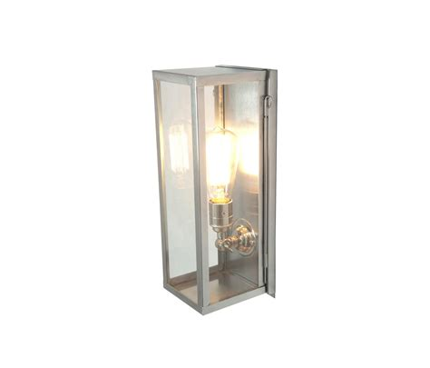 7650 narrow box wall light internal glass polished