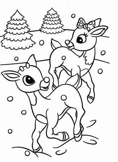 Rudolph Coloring Reindeer Clarice Printable Malvorlagen Coloriage