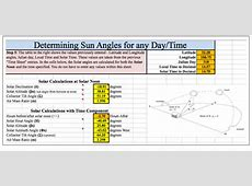 NMSU Solar Time, Angles, and Irradiance Calculator User