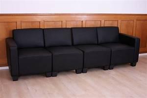 Sofa 4 Sitzer : modular 4 sitzer sofa couch lyon kunstleder schwarz ~ Eleganceandgraceweddings.com Haus und Dekorationen
