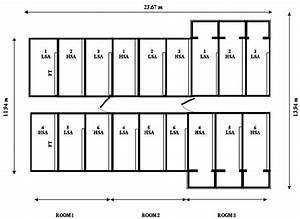 Floor Plan Of Three Pig Housing Rooms In A Study On The