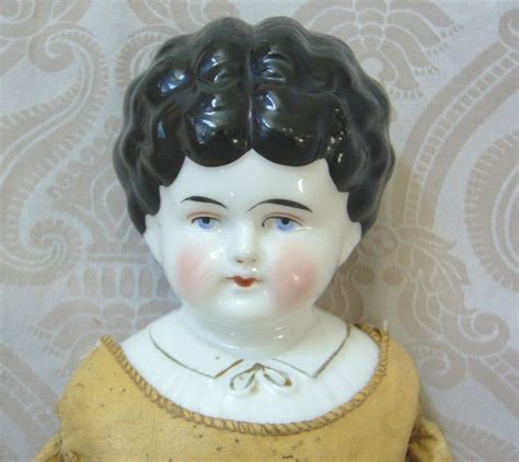 antique porcelain dolls hertwig german glazed porcelain china head doll with blouse detail from joan lynetteantiquedolls