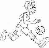 Basketball Coloring Player Players Pages Layup Games Goes College Discover sketch template