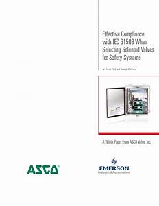 Asco Safety Systems Solenoid Valve Selection Guide