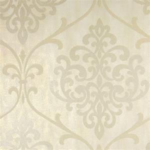 Kenneth James Ambrosia Champagne Glitter Damask Wallpaper ...