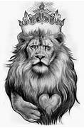 Black And White Lion T...