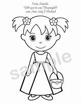 Coloring Activity Pages Printable Flower Books Chinese Flowergirl Personalized Sheets Weddings Colour Pdf Getcolorings Popular Bearer Ring sketch template