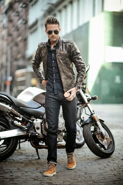 brown biker style more style inspiration fashion updates www dapperfied