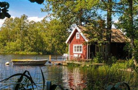 rent swedish lakeside cabins cottages farmstay sweden