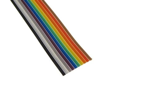 Ribbon Flat 10ft multi color flat ribbon zippable cables 10 conductors