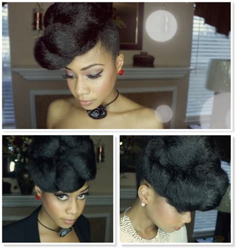 gorgeous and easy 2 minute updo using kanekalon hair