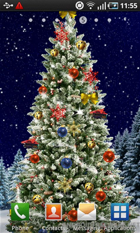 christmas tree live wallpaper free app download android freeware