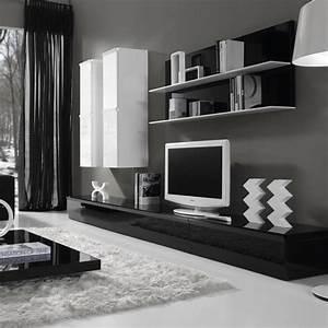 Meuble Salon Noir : cuisine onyx salon meubletvjpg meuble salon bois meuble salon conforama gorgeous meuble salon ~ Teatrodelosmanantiales.com Idées de Décoration