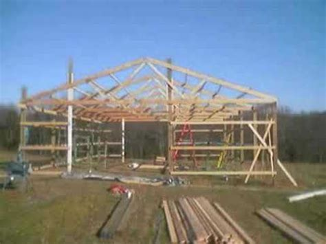 how to build pole shed how to build a pole barn