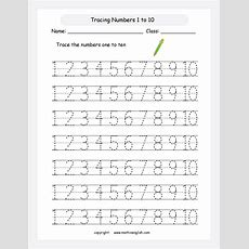 Tracing And Spelling Math Worksheet Learn How To Write The Numbers Up To 10