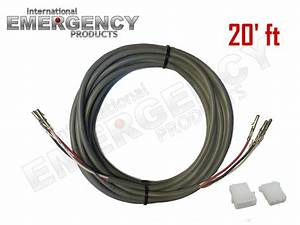 20 U0026 39  Ft Strobe Cable 3 Wire Power Supply Shielded For