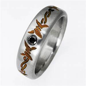 dixon 3 titanium ring with barbed wire titanium wedding With barb wire wedding rings