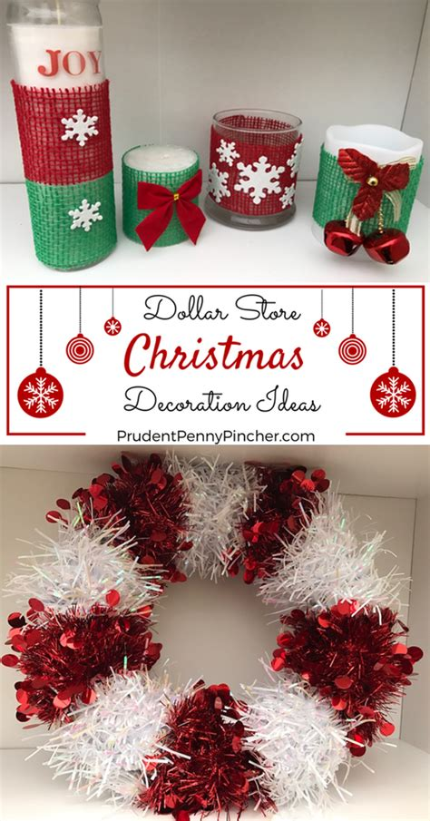 diy dollar store christmas decorations prudent penny pincher