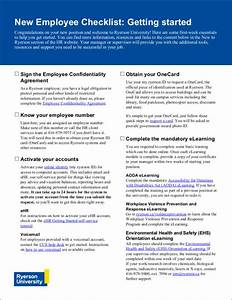 Sample Training Plan Template For Employees 12 New Employers Checklist Samples Templates In Pdf