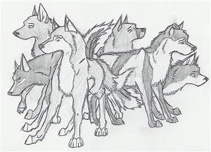 Pencil-Shaded Wolf Pack by evilincognito on DeviantArt