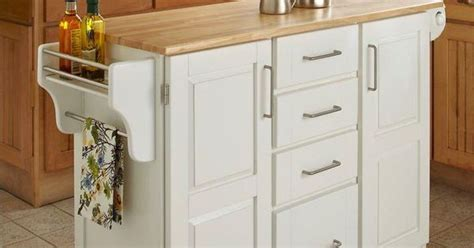 Home Styles Create-a-cart White Kitchen Cart With Natural