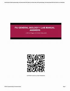 Fiu General Biology 1 Lab Manual Answers By Ty962