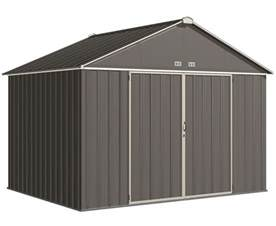 arrow 10x8 ezee storage shed kit charcoal and ez10872hvcccr