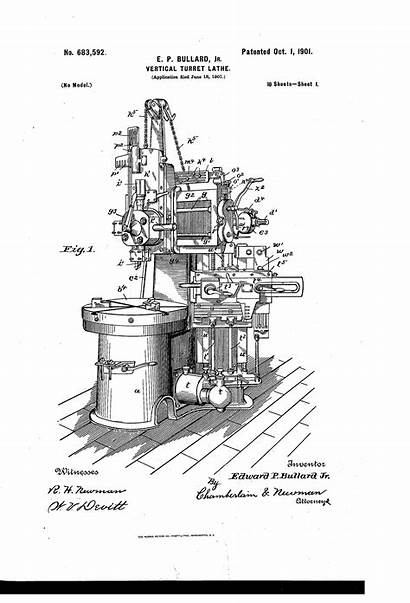 Lathe Vertical Turret Patents Patent Drawing