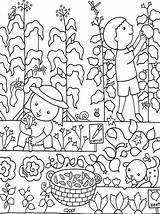Coloring Pages Colouring Flower Garden Gardens Gardening Flowers Vegetable Colour Hubpages Vegetables sketch template
