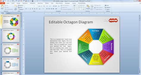 smartart powerpoint templates free editable octagon diagram for powerpoint free