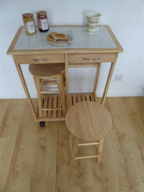 Breakfast Table With Stools by 2 Seater Breakfast Bar Set Folding Kitchen Table With