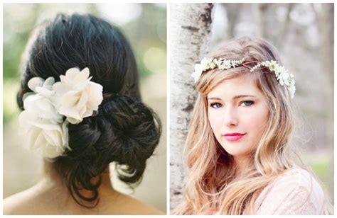 acconciatura con fiore acconciature da sposa tra stile e tendenze