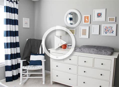room  gray orange  navy twins nursery project