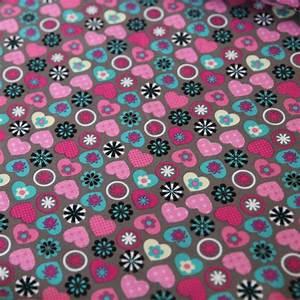 Stoff Mit Blumen : jersey stoff blumen herzen auf taupe reihe kombi kaufen ~ Watch28wear.com Haus und Dekorationen