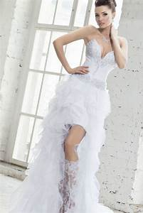 short wedding dress with long train dress yp With wedding dress short in front with long train