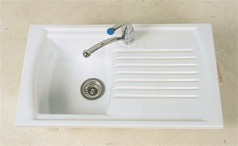 small kitchen sink and drainer denby sonnet ceramic inset sink single bowl and 8092