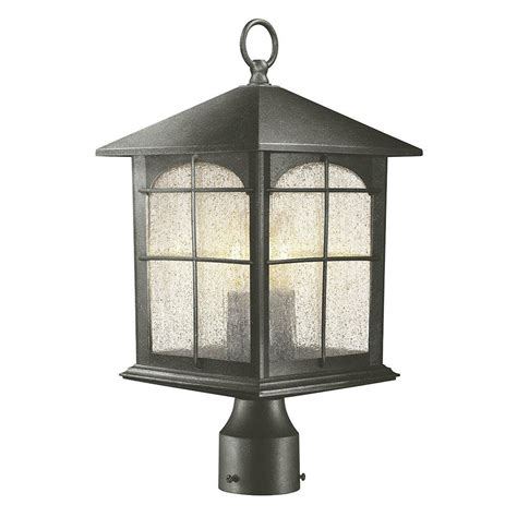 outdoor post light home decorators collection brimfield 3 light outdoor aged