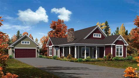 level country home plan ha architectural designs house plans