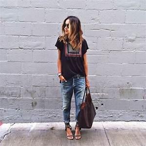 Boyfriendjeans Tee outfits for summer- Sincerely Jules | Boyfriend | Jeans | Pinterest | Style ...