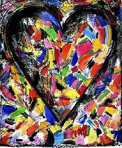 Jim Dine Confetti Hearts