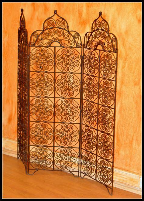 le marocaine fer forge paravent fer forg 233 artisanat marocain
