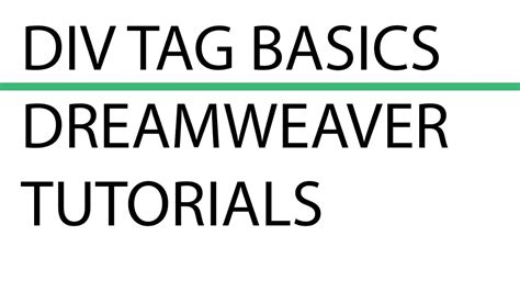 div tags div tag basics how to insert div tags using dreamweaver