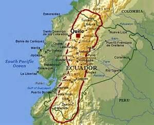 Ecuador Andes Mountains Map